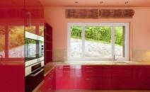 cuisine couleur rouge